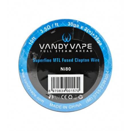 Ni80 Superfine MTL Fused Clapton de Vandy Vape